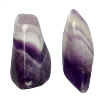 Tumbled Stones Amethyst (Chevron, long), 3,4 - 4,0cm (L)