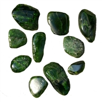 Tumbled Stones Chrom Diopside, appr. 1,0 - 2,5cm (mixed sizes)