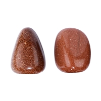 Tumbled Stones Goldstone brown (synt. glass), 2,5 - 3,0cm (L)