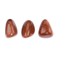 Tumbled Stones Goldstone brown (synt. glass), 2,0 - 2,5cm (M)