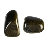 Tumbled Stones Obsidian (Gold sheen), 2,5 - 3,0cm (L)