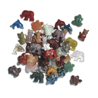 Animals drilled, mixed stones and shapes, appr. 2,5cm (50 pc/VE)