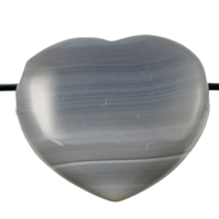 Heart Agate drilled, 3,5cm