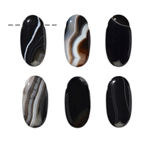 Oval Agate (heated) drilled, 40mm