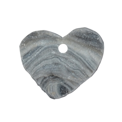 Heart Agate Drusy frontdrilled, 2,5 - 3,0cm