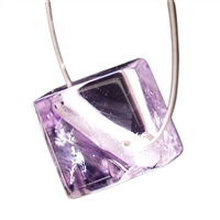 Cube Amethyst A diagonal drilled, 10mm