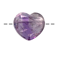 Heart Amethyst faceted drilled, appr. 2,5cm