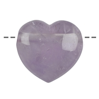 Heart Amethyst drilled, 4,5cm
