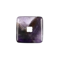Donut square, Amethyst, 30mm