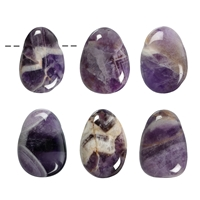 Tumbled Stone Amethyst drilled