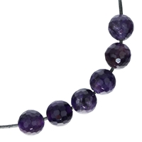 Bead Amethyst faceted drilled, 12mm