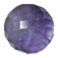 Bead Amethyst faceted drilled, 20mm