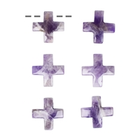 Cross Amethyst drilled, 3cm (6 pc/VE)