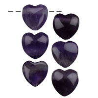 Heart Amethyst drilled, 15mm