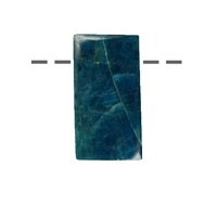 Cabochon Rectangle Apatite (stab.) drilled, 3,0cm