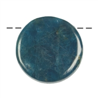 Cabochon round Apatite (stab.) drilled, 2,5cm