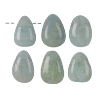 Tumbled Stone Aquamarine drilled, 2,5 - 3,0cm