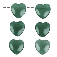 Heart Aventurine drilled, 15mm