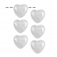 Heart Rock Crystal drilled, 2,5cm (6 pc/VE)