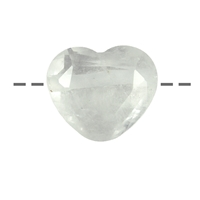 Heart Rock Crystal faceted drilled, 2,5cm