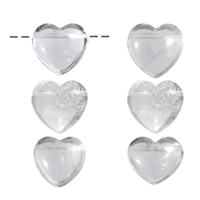 Heart Rock Crystal drilled, 3,0cm (5 pc/VE)