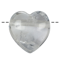 Heart Rock Crystal drilled, 4,5cm