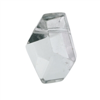 Freeform Rock Crystal faceted drilled, 3,0 - 4,0cm