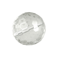 Bead Rock Crystal faceted drilled, 12mm