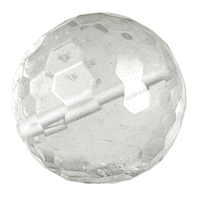 Bead Rock Crystal faceted drilled, 20mm