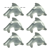 Dolphin Rock Crystal drilled, 2,5cm (6 pc/VE)