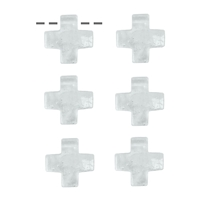 Cross Rock Crystal drilled, 3cm (6 pc/VE)