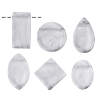 Cabochon Set Rock Crystal drilled (6 pc/VE)