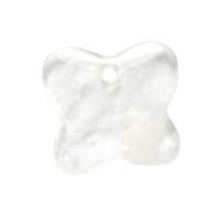 Butterfly Rock Crystal frontdrilled, 4,2cm