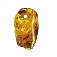 Tumble Stone Amber frontdrilled, app. 3,0 - 3,5cm