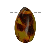 Tumbled Stone Amber drilled, app. 2,5 - 3,5cm
