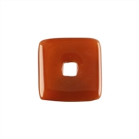 Donut square Carnelian (heated), 30mm