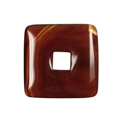 Donut square Carnelian (heated), 40mm