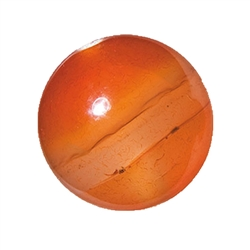Bead Carnelian (heated) drilled, 16mm