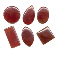 Cabochons Carnelian (heated) drilled (6 pc/VE)