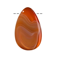 Cabochon Drop Carnelian (natural) drilled, appr. 4,2cm