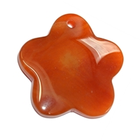 Blossom Carnelian (heated) frontdrilled, 6,7cm