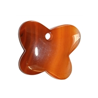 Butterfly Carnelian (heated) frontdrilled, 4,2cm