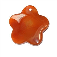 Blossom Carnelian (heated) frontdrilled, 4,8cm