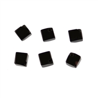 Cube Onyx (natural) diagonal drilled, 10mm