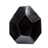 Freeform Onyx (dyed) faceted drilled, appr. 3,0 - 4,0cm