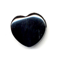 Heart Onyx (dyed) drilled, 15mm