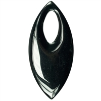 Extra large Navette Onyx (gef.), 7cm