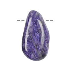 Tumbled Stone Charoite drilled