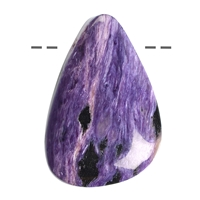 Drop Charoite drilled, appr. 3cm