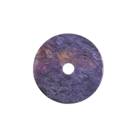 Slab with hole Charoite, appr. 3,0 - 3,5cm